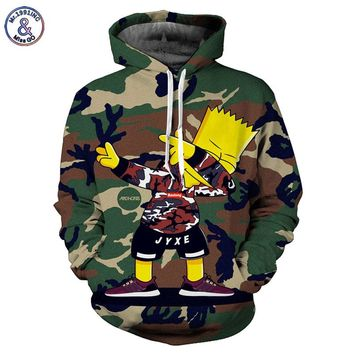 Camo Simpsons Men/women Hoodies