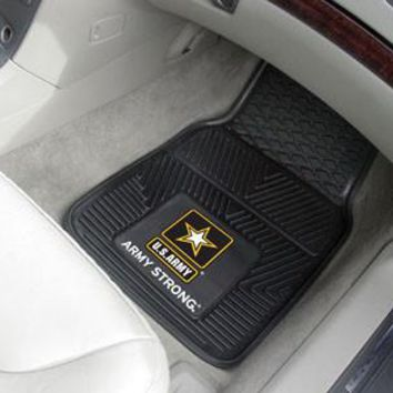 U.S. Army Heavy Duty Vinyl Front Seat 2 Piece Car Mat Set