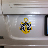 Anchor/Monogram Car Decal-Two color