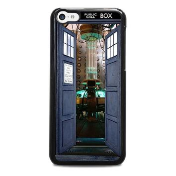 dr who tardis open the door iphone 5c case cover  number 1