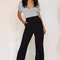 Double Up Layered Trousers - Black