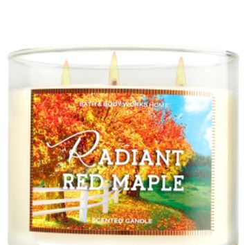 3-Wick Candle Radiant Red Maple