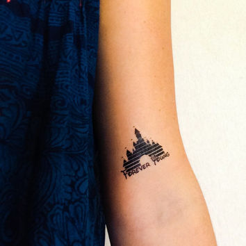 2 Disney Castle Temporary Tattoos- from GeekTat on Etsy | things