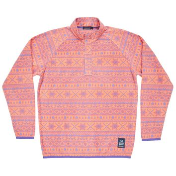 Alpine Fleece Pullover in Peach and Wharf Purple by Southern Marsh