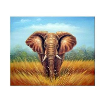 African Elephant Art Oil Paintings