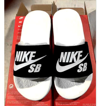 Nike SB  Woman Men Fashion casual slippers B-CSXY Black