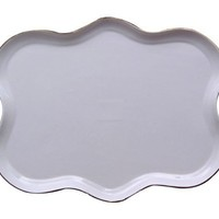 Gracie China Gold Trimmed Porcelain 15-Inch Tea Set Tray