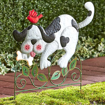 Dog or Cat Garden Fence Stakes