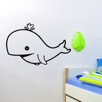 Wall Decal Vinyl Sticker Animal Whale Baby Room Nursery Sb402