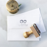 Custom Portrait Address Stamp – Idlewild Co.