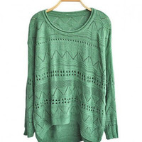 Cut Out Knitted Jumpers with High Low Hem [2]