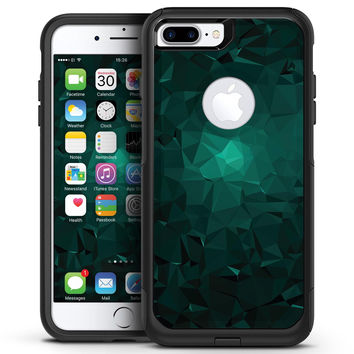 Abstract Teal Geometric Shapes - iPhone 7 or 7 Plus Commuter Case Skin Kit