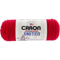 Red Yarn , Caron United Yarn, Craft Supplies, Crochet, Knitting