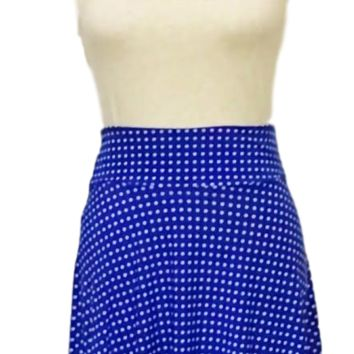 Flirty Skirt - Cobalt with White Dots