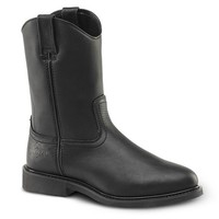 Black Oiled Leather Western Boot