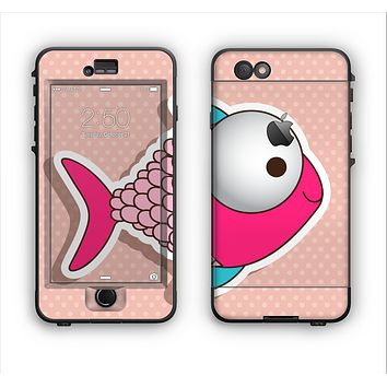 The Colorful Vector Big-Eyed Fish Apple iPhone 6 Plus LifeProof Nuud Case Skin Set