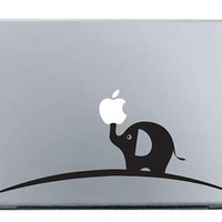 Macbook Decal Mac Stickers Macbook Decals Macbook Stickers Apple Vinyl Decal for Macbook Pro / Macbook Air / iPad - Elephant on rainbow