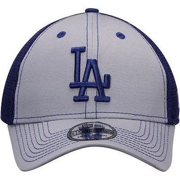 Los Angeles Dodgers Hat Team Front Neo Classic 39THIRTY Stretch Fit Cap  New Era