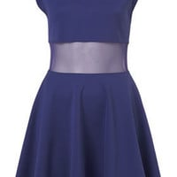 **Bust Panel Skater Dress by Dress Up Topshop - Dresses  - Apparel