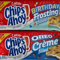 NEW Chips Ahoy Oreo Creme and Birthday Frosting Filled Cookies. 9.6oz Each