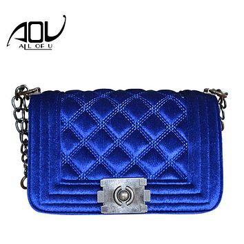 Women Messenger Bag 2016 Brand Fashion Ladies Luxury Handbag Suede Chain Shoulder Bag Quilted Women's Crossbody Bag Dollar Price