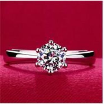Engagement Rings for women Rose gold color, Austrian Crystals Jewelry top quality