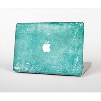 "The Scratched Turquoise Surface Skin Set for the Apple MacBook Pro 15"" with Retina Display"