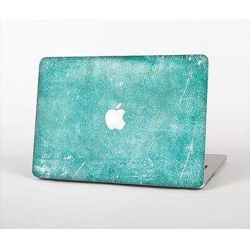 """The Scratched Turquoise Surface Skin Set for the Apple MacBook Air 11"""""""