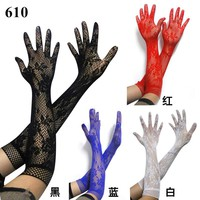 Sexy transparent lace elastic gloves bride Long-sleeve gloves mesh liturgy gloves sexy gloves lace 610