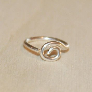 Spiral Nose Hoop/Sterling Silver Nose Hoop/14k Gold Filled Nose Hoop/Gifts/Cartilage Earrings/Nose Rings/Cute Gifts