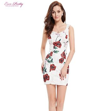 White Cocktail Dresses AP05303WH Ever Pretty 2017 Sexy Flower Girl Dress V-neck Summer Style Cocktail Dresses