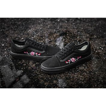 Vans X Amac Customs Rose Embroidery Skateboarding Shoes 35-44 - Beauty Ticks