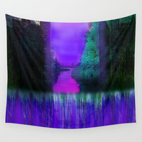 Enchanted Night Wall Tapestry by Jenartanddesign