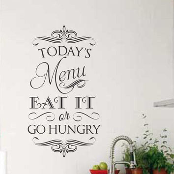 Menu Eat It Go Hungry | Kitchen Decal | Vinyl Wall Lettering