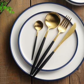16/24/32pc Lux Gold Flatware Set (6 colors)