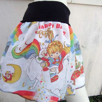 RAINBOW BRITE TuTu Skirt made with vintage rupurposed fabric