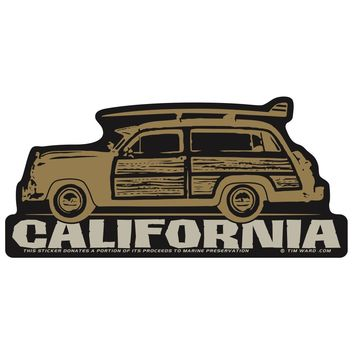 California Surf Woody Sticker