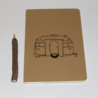Vintage Retro Camper Trailer Lined Journal