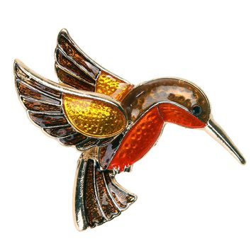 Retro Vintage Women Enamel Brooch Steampunk Fly Bird Glaze 40*38mm  Brooch Pins 2018