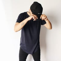 Owen Zipper T-shirt (Navy Blue)