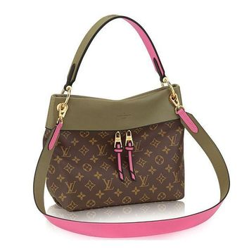 CREYONIA Louis Vuitton Monogram Canvas Tuileries Besace Shoulder Cross Handbag Khaki Article:M43159