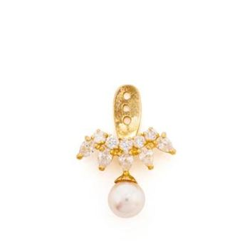 YVONNE LEON | 18k Gold, Diamond and Pearl Lobe Earrings | Browns fashion & designer clothes & clothing