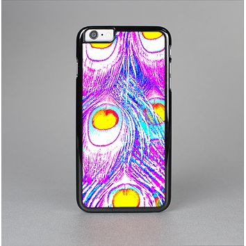 The Neon Pink & Turquoise Peacock Feather Skin-Sert for the Apple iPhone 6 Plus Skin-Sert Case