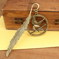 The Hunger Games Bookmark  Katniss Arrow with Mockingjay by mosnos