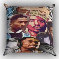 Tupac Shakur collage Zippered Pillows  Covers 16x16, 18x18, 20x20 Inches