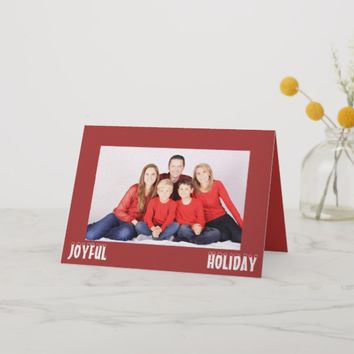 Joyful Holiday Family Card