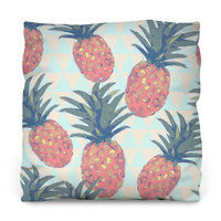 Low Poly Pineapples Throw Pillow