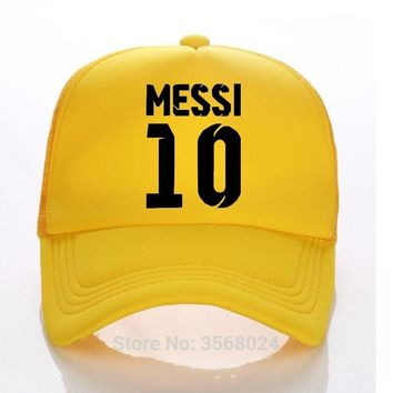 Trendy Winter Jacket 2018 MEESI Kids Trucker Hat Summer Child/Adult Baseball Hats Sun Caps Boy Snapbacks Fans of Messi 10 brazil football Cap AT_92_12