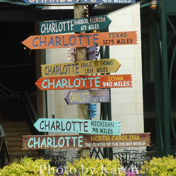 From Charlotte 8 x 10 Original Photograph