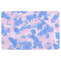 Pink and Blue Confetti Floor Mat
